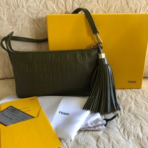 Fendi Zucchino Leather Pouchette